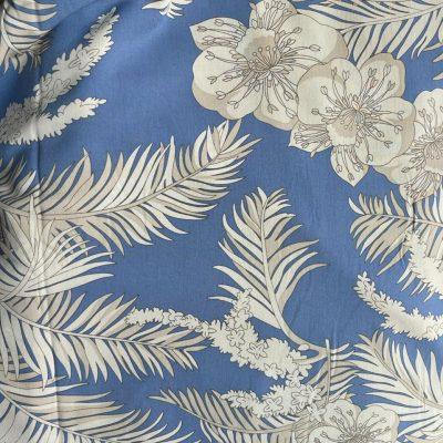 Floral-Blue-White-Cotton